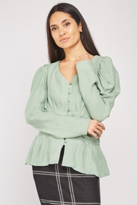 Gathered Panel Blouse