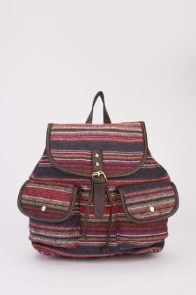 Multi Striped Backpack