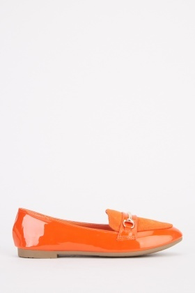 Contrasted Detail Front Loafers