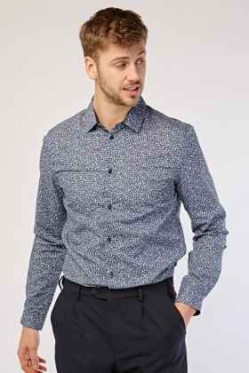 Flower Print Mens Shirt