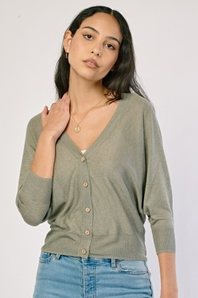 Batwing Sleeve Knit Cardigan