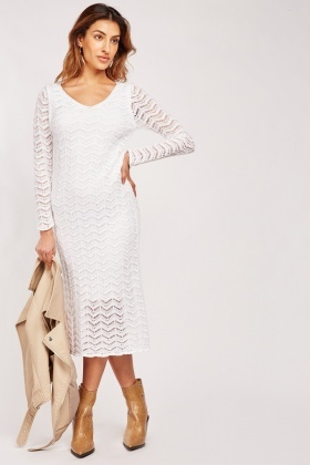 Loose Crochet Overlay Dress