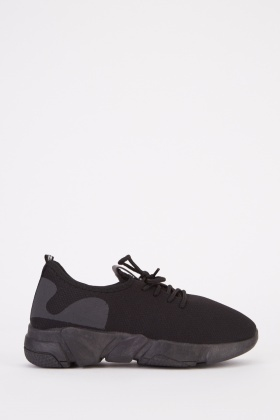 Slip On Contrast Back Trainers