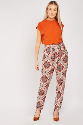 Ethnic Tile Printed Trousers