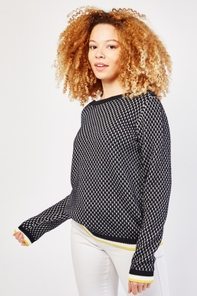 Textured Knit Cotton Jumper