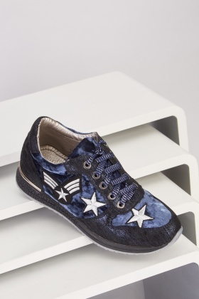 Lurex Low Top Wedged Trainers