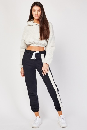 Tie Up Waist Contrasted Joggers