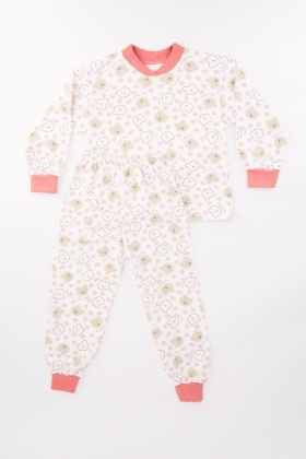 Bear Print Kids Pyjama Set