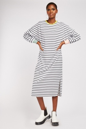 Striped Midi Jumper Dress