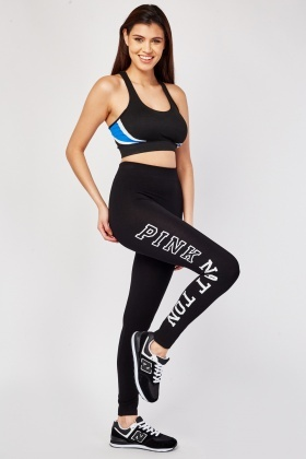 High Waist Printed Side Sports Leggings