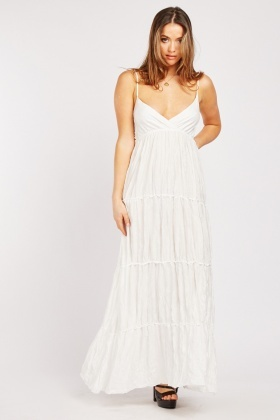Crinkle Tiered Maxi Dress