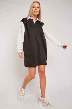 Johnny Collar Contrasted Dress $7.10