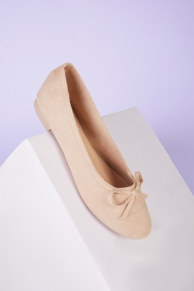 Ballet Trim Suedette Pumps