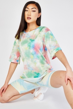 Oversized Tie Dyed Print T-Shirt