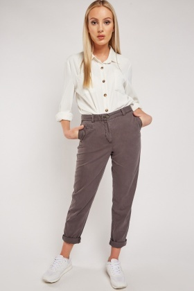 Straight Cut Cotton Chino Trousers $7.10