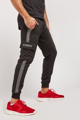 Striped Side Mens Jogging Bottoms