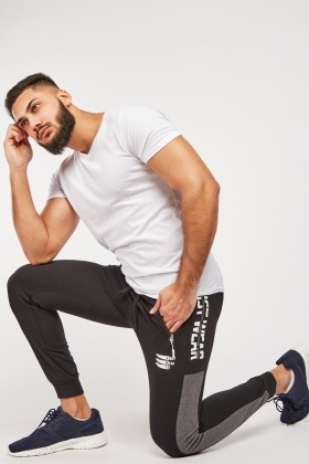 Logo Contrasted Side Jogging Bottoms