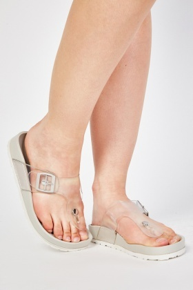 Jelly Top Thong Sliders
