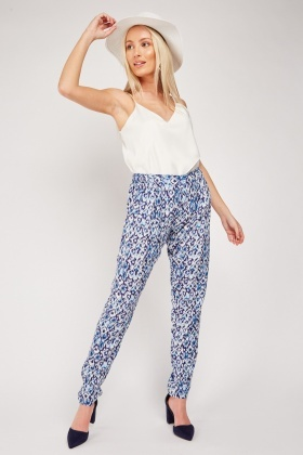 Ikat Printed Light Weight Trousers
