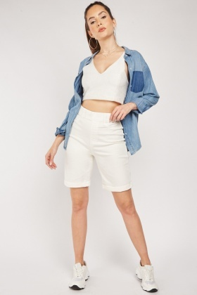 Casual Long Line Shorts