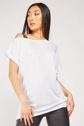 Embellished One Shoulder Strap Top