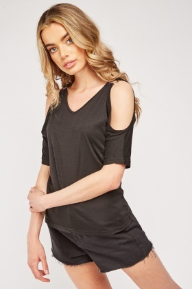 Cold Shoulder Ring Detail Top