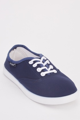 Contrasted Lace Up Sneakers