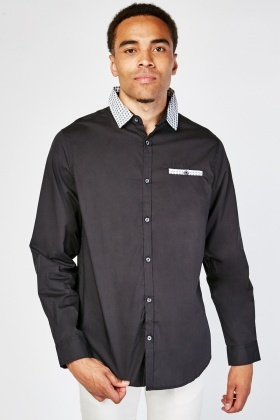 Mens Printed Collared Shirt
