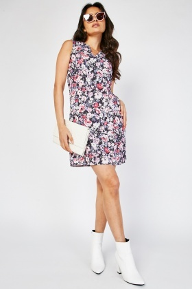Floral Shift Mini Dress