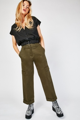 Oversized Pocket Side Utility Trousers
