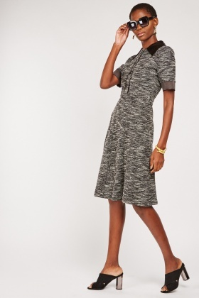 Chelsea Collar Speckled Dress