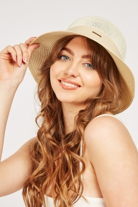 Contrasted Straw Summer Hat