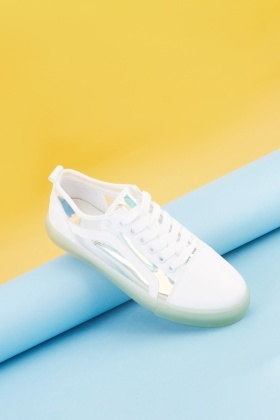 Transparent Panel Low Top Trainers
