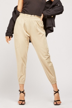 Paperbag  Waist Tapered Trousers