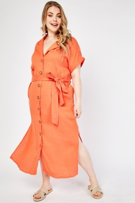 Belted Maxi Cotton Dress