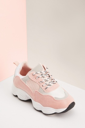 Textured Lace Up Chunky Trainers $7.30