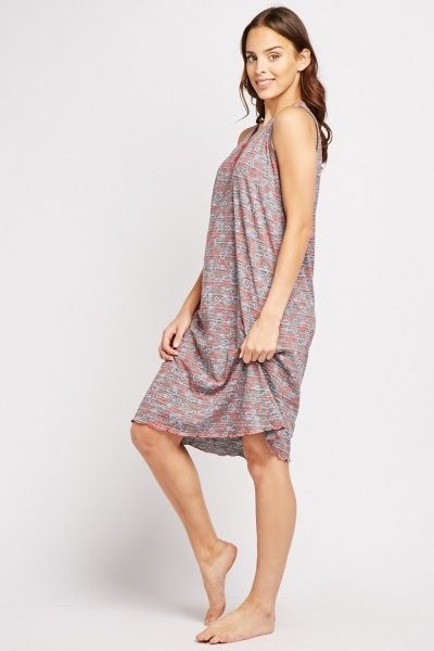 Love Heart Print Tunic Dress