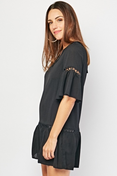 Frilly Hem Tunic Dress