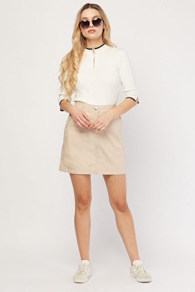 CHEAP Ruffle Pocket Trim Mini Skirt 26893464101 – Women's Dresses & Skirts