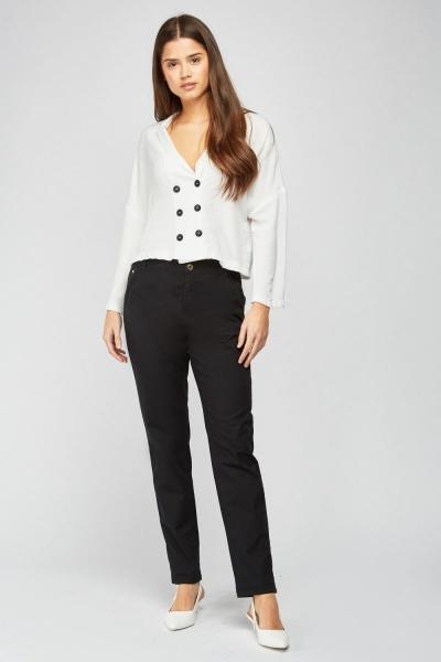 CHEAP Straight Cut Bermuda Trousers 28811324197 – Women's Trousers