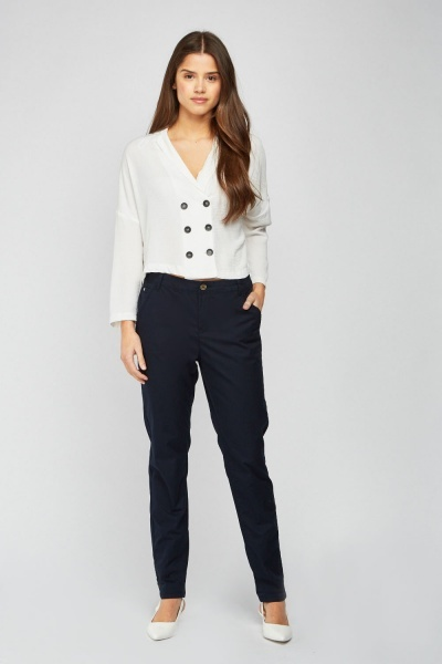 CHEAP Straight Cut Bermuda Trousers 28811324203 – Women's Trousers