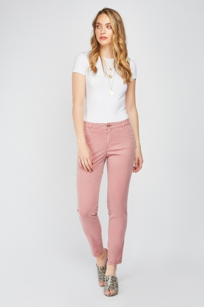 CHEAP Straight Fit Chino Trousers 26886036529 – Women's Trousers