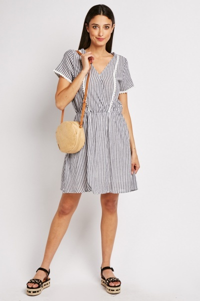 Stripe Crochet Cotton Dress