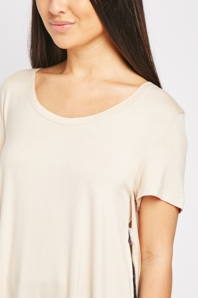Slouchy Round Neck Basic Top