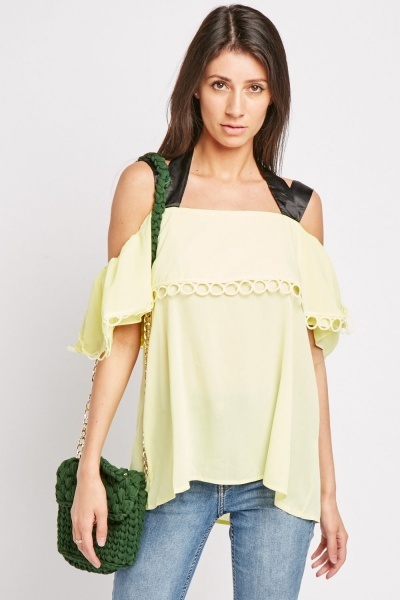 Bee Embellished Broderie Top