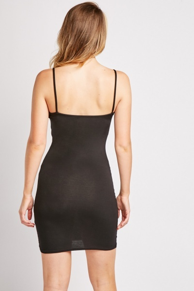 Slip On Logo Bodycon Dress