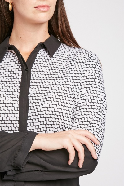 Illusion Print Mono Shirt