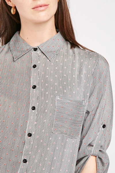 Anchor Stripe Contrast Shirt