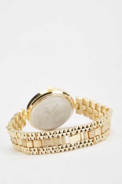 Contrasted Chain Strap Watch