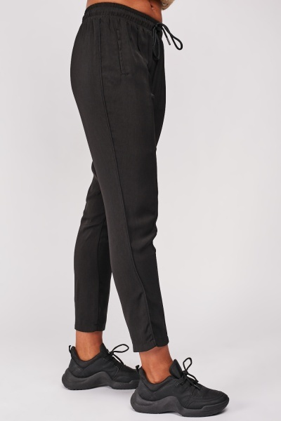 Piping Side Trim Tapered Trousers